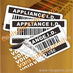 warranty void barcode labels