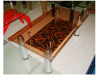Wood and Glass Tea table
