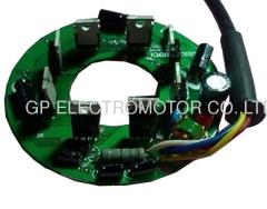 タコメータ出力を備えた低ノイズ48VブラシレスDCファンモータの速度制御