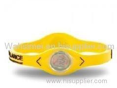 silicone energy balance bracelets