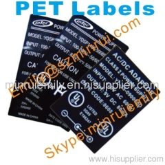 water proof PET labels