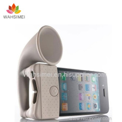 silicon iphone horn for phone