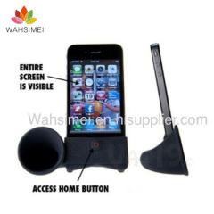 Silicon iphone speaker for phones