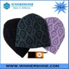 Cotton beanie with printing pattern headphone