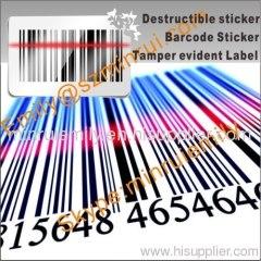destructive vinyl barcode stickers