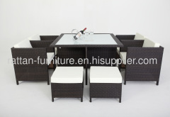 outdoor rattan garden furniture dinning room set