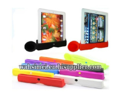 Silicone trumpet holder for phone