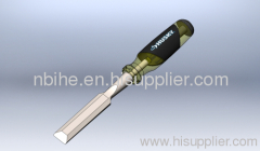 Husky CRV wood Chisel with metal bar though the handle