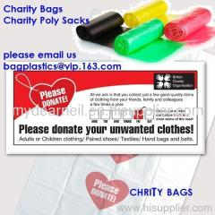 Charity bags, Charity collection bag, Carrier BAGS, Refuse SACKS, Bin Liners, Nappy bags, Draw string & Draw tape bags