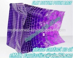 Flat Bottom pouch bag, Square bottom stand up pouches, Soup Pouches, Roll Stock, Aluminum Foil Bags