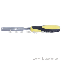 China factory wood chisel with double color soft handle