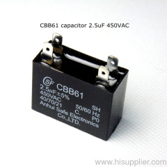 UL CE approval starting capacitor CBB61 capacitor