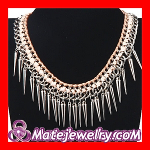 Spike Tassel Bib Necklace