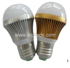 3W 3pcs 1W High Power led bulb E27 base high power ledslight