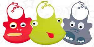 Animal Design Silicon Baby Bibs Funny Look