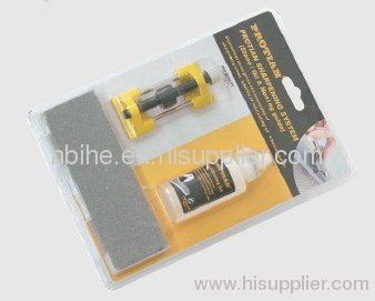 Sharpening system(stone oil Honing guide) for wood chisel