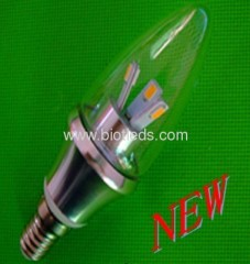 SMD candle light smd lamps 6pcs 5630smd led candle bulbs