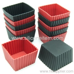 Mini Square Silicone Reusable Baking Cup