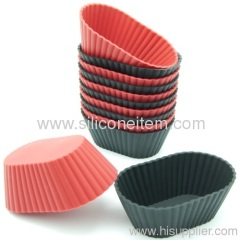 12-Pack Mini Oval Silicone Reusable Baking Ware