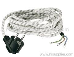 Schuko plug 16A 250V with H03RT-H