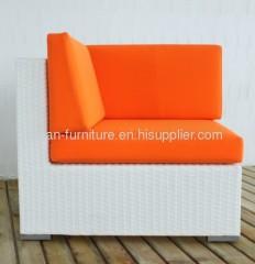 Outdoor wicker patio garden furniture sofa corner chair