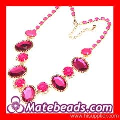 Crystal Flower Bib Necklace Forever 21