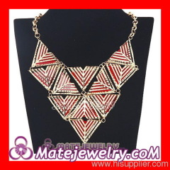 Large Triangle Bib Statement Necklace