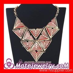Large Triangle Bib Statement Necklace