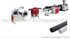 PE PVC single wall corrugated pipe threading production line