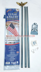 Custom USA outdoor flagpole