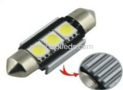 0.6W 3 SMD festoon car bulbs led car light