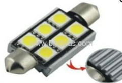 1W 6 SMD festoon car bulbs led car light