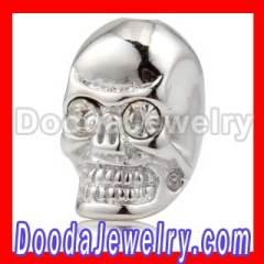 shamballa silver skull beads