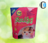 Aluminium foil pet food bag with clear window and zipper