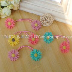 Latest Fashion Resin Elastic Band with flower shape