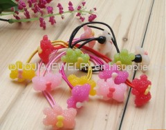 Lovely Hair Rubber Bands with Resin Design/Hair Elastic Ban