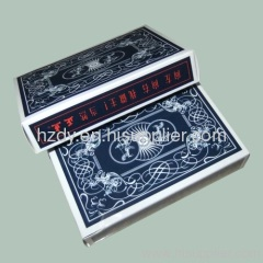 Playing cards and cards packaging box
