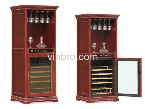 Vinbro Wine Refrigerator Wood Cabinets Furniture Cellar Clic Electronic Coolers