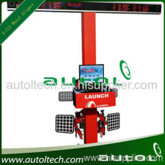 wheel aligner with 2 cameras system