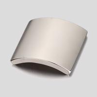 N42 motor arc NdFeB magnet with nickel plating