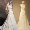 A Line Strapless Silky Taffeta Wedding Dresses With Bow detail