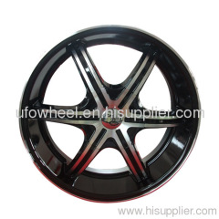 ALLOY WHEEL BLACK MACHINE FACE