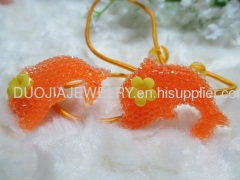 DBTS1101 Lovely Dolphin Shape Hair Rubber Bands with Resin