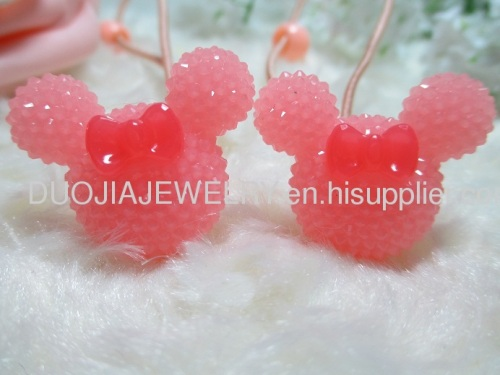DBTS1106 Cute Mickey Shape Hair Rubber Band with Resin
