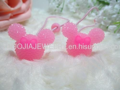 Fancy Handmade DBTS1106 Cute Mickey Shape Hair Rubber Band with Resin Design/Hair Elastic Band