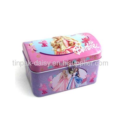 Bobby piggy bank barbie coin bank money saving tin box for How to open a tin piggy bank