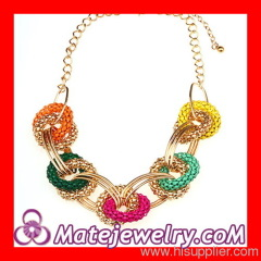 Hoop Link Chain Bib Necklace
