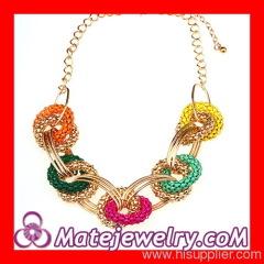 Hoop Link Chain Bib Necklace