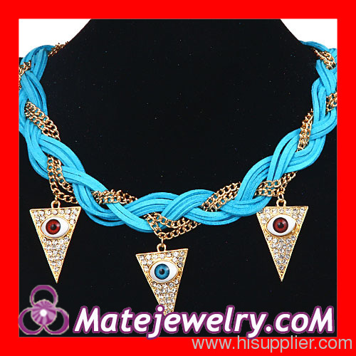 Evil Eyes Pendant Necklace Jewelry