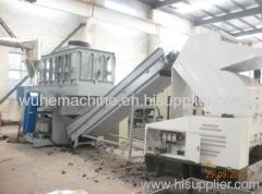PVC pipe shreddr and crusher unit